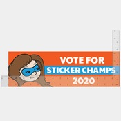 15 x 3.75 INCH BUMPER STICKER