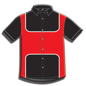 Button Front Performance Shirt-Short Sleeve-020