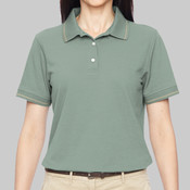 Ladies' 5.6 oz. Tipped Easy Blend™ Polo