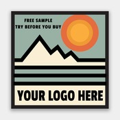 FREE CUSTOM SAMPLE - 4 INCH SQUARE STICKER