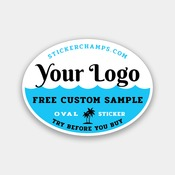 FREE CUSTOM SAMPLE - 4X3 INCH OVAL STICKER